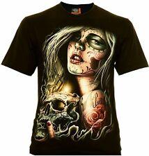 By Rock Eagle T-shirt 100% coton Santa Muerte skull