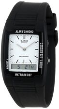 Casio AQ47-7E, Analog/Digital Combo Watch, Chronograph, Black Resin Band, Alarm