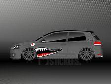 Haimaul Aufkleber Set Auto Shark P 40 Oldschool Tuning Shocker Winterauto SD008