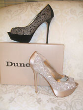 Dune Women's Satin Peep Toe Shoes