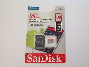 SANDISK ULTRA MICROSDXC UHS-I CARD WITH ADAPTER 128GB
