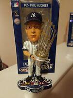 PHIL HUGHES #65 New York Yankees Bobble Head 2009 World Series Champs Trophy MLB