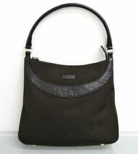 NWT Authentic GUCCI Canvas Guccissima Leather Hobo Shoulder Bag 279152 Brown