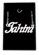 Collier Prénom TAHIRA 18K Plaqué or blanc - Arabe Musulman Accessoires De mariée