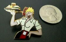 Sexy Car-Hop Cutie Drive-In Diner Retro 50's Waitress Roller Skates Girlie  Pin