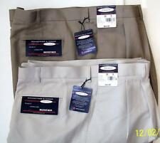 Mens 2 Pair Roundtree & Yorke Sz 52 Waist Pleated Shorts NEW $45 Each