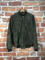 Polo Ralph Lauren S/M Suede Leather Rare Heavy Military RRL Bomber Jacket