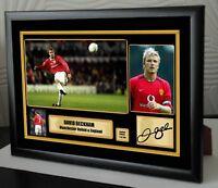 David Beckham Manchester United Limited Edition Framed Canvas Signed  Great Gift