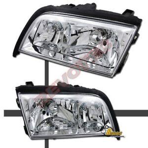 94-00 Mercedes Benz W202 C Class C220 C230 C280 C36 C43 Chrome Headlights 1 Pair