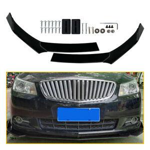 Universal Car Glossy Black Front Bumper Lip Chin Spoiler Splitter Body Kit 4pcs