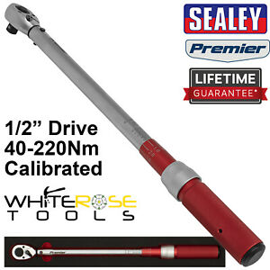 """Sealey Torque Wrench Micrometer Style 1/2"""" Drive 40-220Nm Calibrated in EVA Tray"""