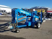 Genie TZ34/20 Towable Manlift w/self leveling outriggers