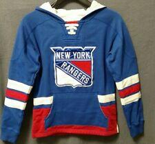 Vintage CCM New York Rangers NHL Hockey Youth Jersey Sweatshirt (Size M 10/12)