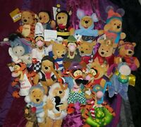 Winnie The Pooh Beanies Rare Collection/Job Lot