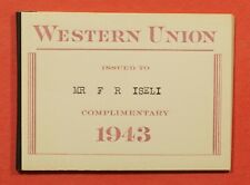 1943 Western Union Telegraph Co Stamp Booklet 8 Panes #16T96 16T95