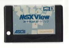 "MSX turbo R""MSX View Kanji ROM Cartridge""JAPAN JAPANESE GAME"