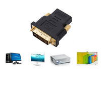 DVI-I Dual Link (24+5 pin) Male to Female Adapter HDMI Standard for HDTV LCD DVD