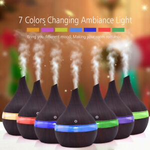 Air Aroma Essential Oil Diffuser LED Ultrasonic Aromatherapy The Humidifier PG