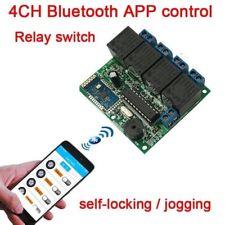 4CH 12V Bluetooth relay switch module phone APP wireless remote jog self-locking