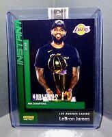 LeBron James 2020 Panini LA Lakers NBA Champions #13 Green Parallel Card 10/10