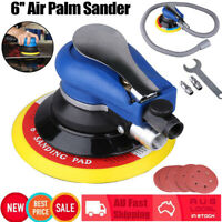 "Air Random Orbital Palm Sander 6"" 150mm Pad Hand Power Polisher With 6 Sandpaper"