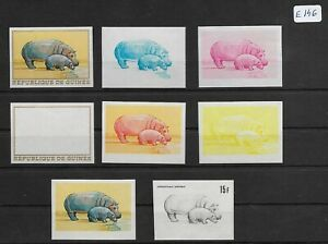 SMT, GUINEE, animals  good lot of RARE Color Proof stamps very fine MNH lot 4