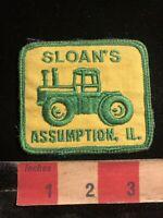 Vtg Denim On Back Tractor Dealer SLOAN'S ASSUMPTION ILLINOIS Farmer Patch 98II