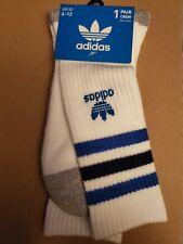 Adidas Socks white crew with blue stripes