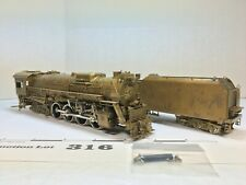 Lot316 United Scale Models Brass C&O 2-8-4 Steam Engine/Tender HO scale 2 Rail