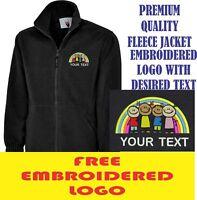 Personalised Embroidered Fleece Jacket CHILDCARE workwear LOGO
