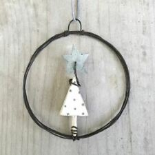 East of India - Small Hanging Metal Decoration - Christmas Tree