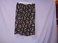 Ilyza New York Back & Floral Print Ribbing Type & Pleated Skirt Size 26 100% Ray