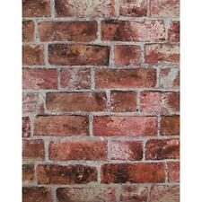 Red Brick Wallpaper | Embossed Textured Vinyl Bricks Stones Wallcovering |HE1044
