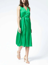 Banana Republic Sleeveless V-Neck Wrap Dress, sz XL Tall Green