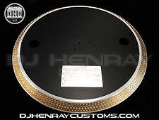 TECHNICS 1200 SERIES CUSTOM OG BLACK PLATTER & GOLD MK2MK3M3DMK4MK5MK6M5G OEM