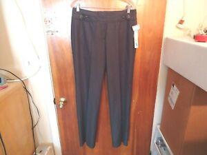 "Womens "" NWT "" Larry Levine Size 8 Avg.Steel Grey Dress Pants "" BEAUTIFUL PAIR """