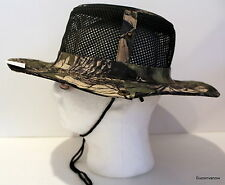 Camouflage Military Wide Brim w Snap Bucket Camping Hunting Boonie Hat fishing B