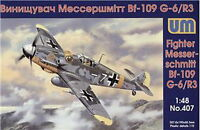 Unimodel 407 Messerschmitt BF 109G-6/R3 Luftwaffe Plastic 1/48 scale model kit