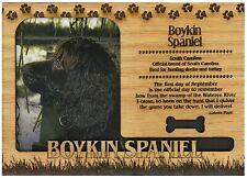Boykin Spaniel Engraved Wood Picture Frame Magnet