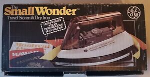 GE Small Wonder Travel Steam & Dry Iron F50☆Foldable, Adapter, Instructions, Box