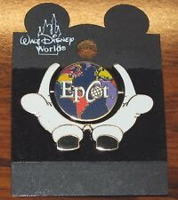 Walt Disney World Epcot Mickey Hands & Globe Spinner Collectible Pin / Brooch!
