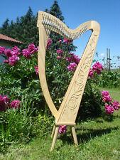 Harfe 27 Saiten Esche C3-A6 neues Klappensystem + abnehmbare Füße + Tasche + Zub