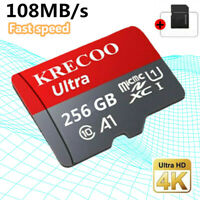 Memory SD Card 256/128GB TF Flash Micro Card Fast C10 &Adapter&Phone&Car&Camera