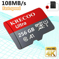Memory SD Card 256/128GB TF Flash Micro Card Fast C10 &Adapter&Phone&Car&Camera