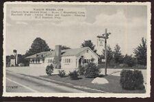 Postcard BROOKFIELD Connecticut/CT  Wagon Wheel Inn Restaurant view 1930's