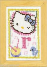 Vervaco  0149556  Alphabet © Hello Kitty - Lettre R  Kit  Point de Croix  Compté