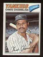 Chris Chambliss #220 signed autograph auto 1977 Topps Baseball Trading Card