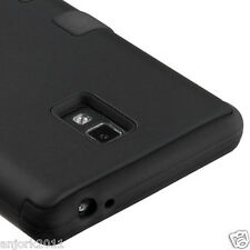 LG Optimus L9 P769 T-Mobile T Armor Hybrid Hard Case Skin Cover Black