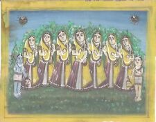 INDIA - OLD HAND PAINTING ON PAPER  - HINDU RELIGION - SIZE 8.3/4 '' X  7 ''