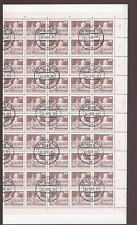 GERMANY DDR 1980 70pf...FINE USED SHEET...100 stamps